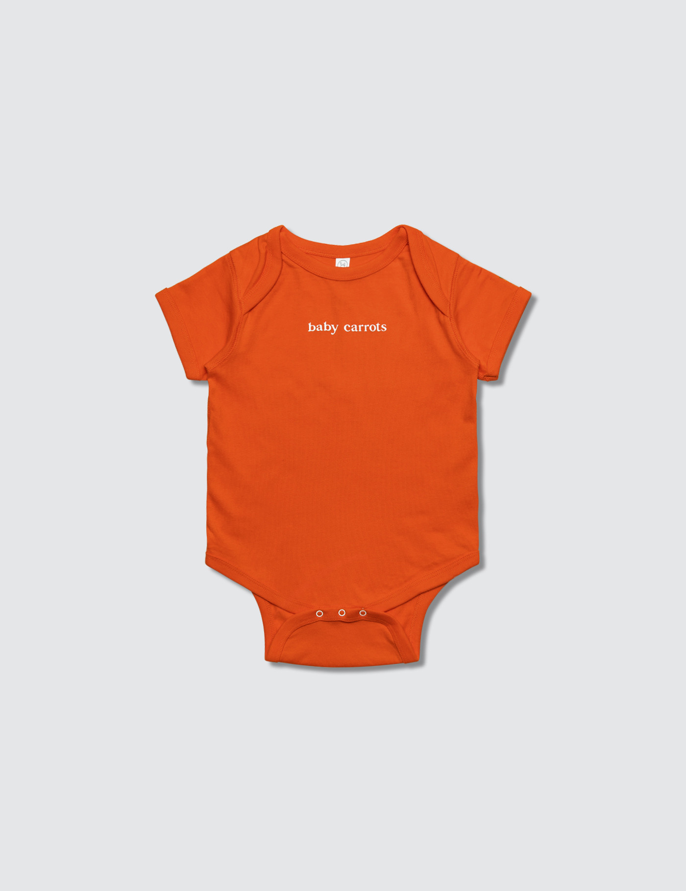 Carrots Baby  Wordmark Onesie