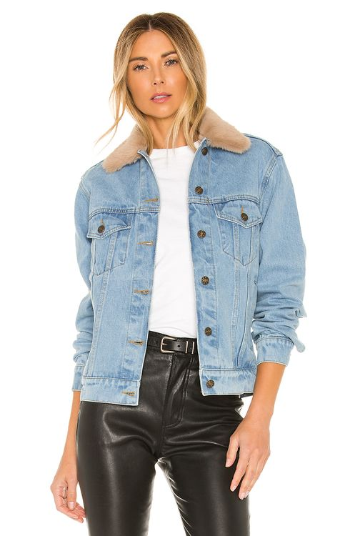 Understated Leather Lonewolf Jacket With Faux Fur Collar