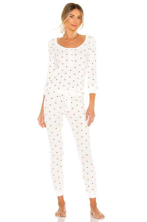 Plush Thermal Heart PJ & Scrunchie Set