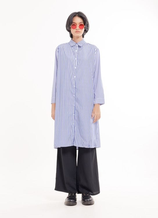 BOWN Evette Dress - Stripe Blue