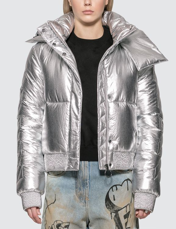 Off-White Silver Down Jacket