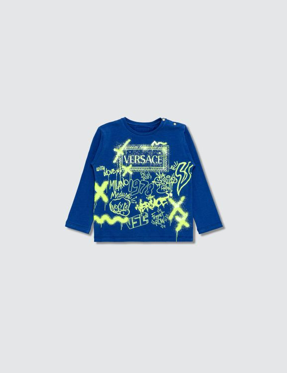 Versace Graffiti Long Sleeve T-shirt (Toddler)