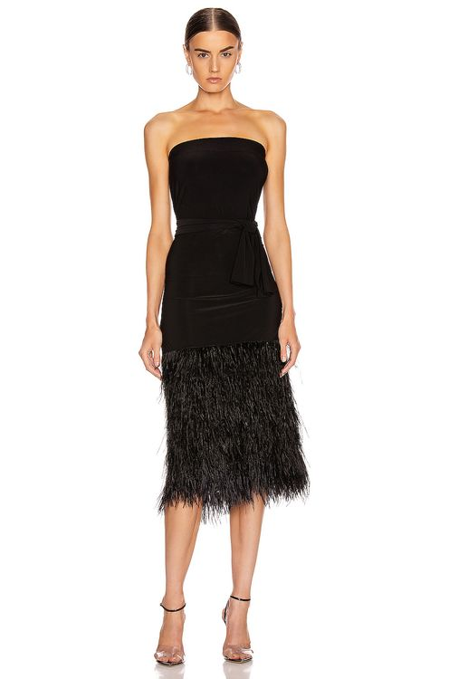 Norma Kamali Feather All In One Dress