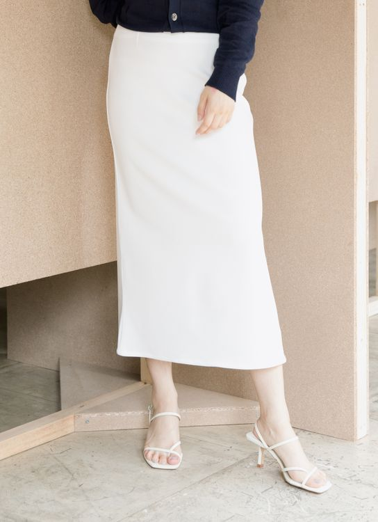 ATS THE LABEL Neutral White Skirt