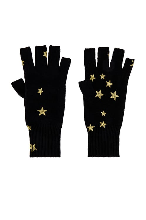 Autumn Cashmere Printed Stars Gloves