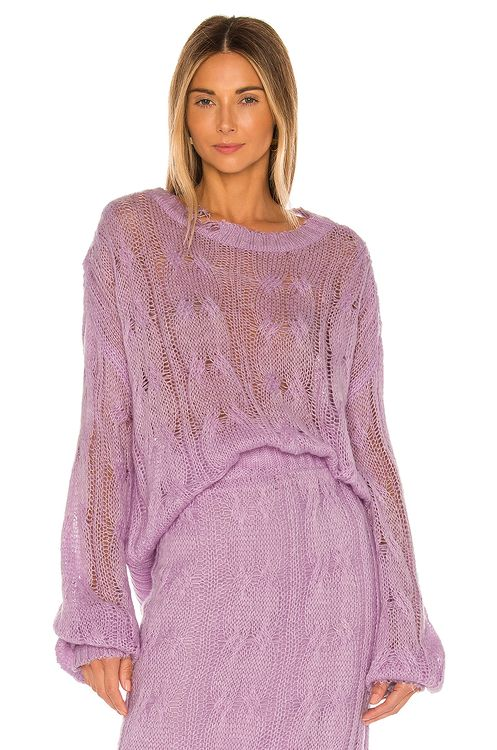 KENDALL + KYLIE Ripped Sweater