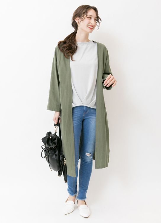 E-hyphen World Gallery Chelsea Cardigan - Khaki