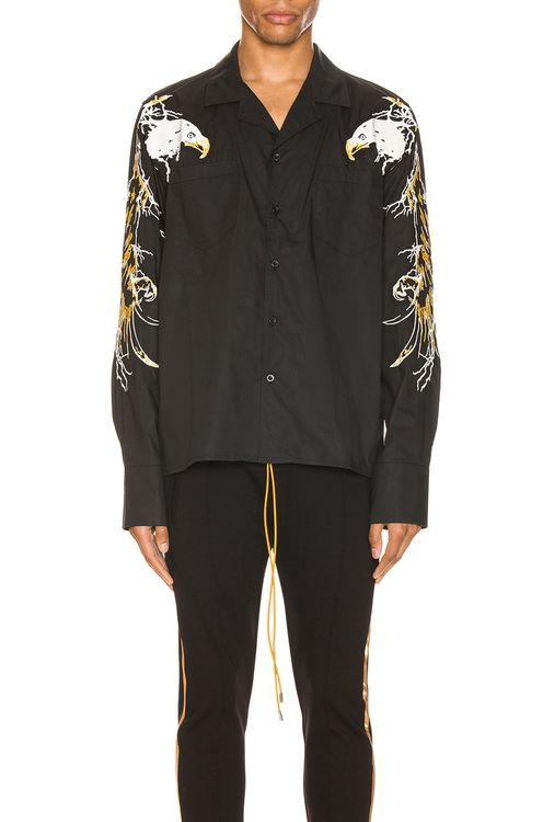 Rhude Eagle Embroidered Button Up