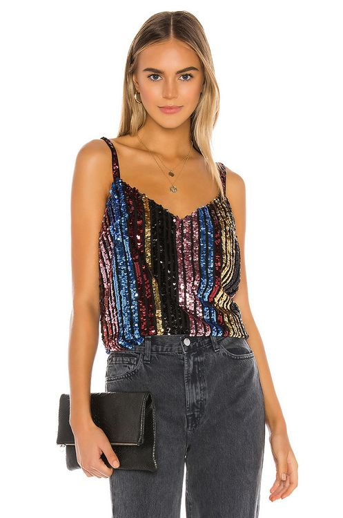 BB Dakota Party's Arrived Sequin Top