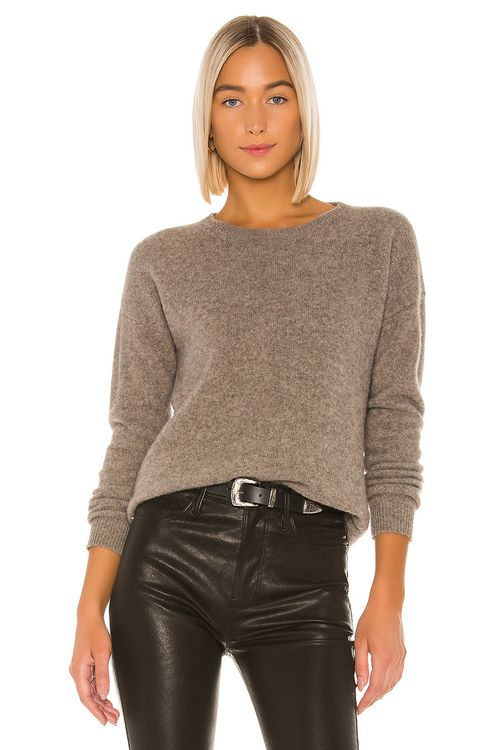 SWTR Keyhole Back Crew Sweater