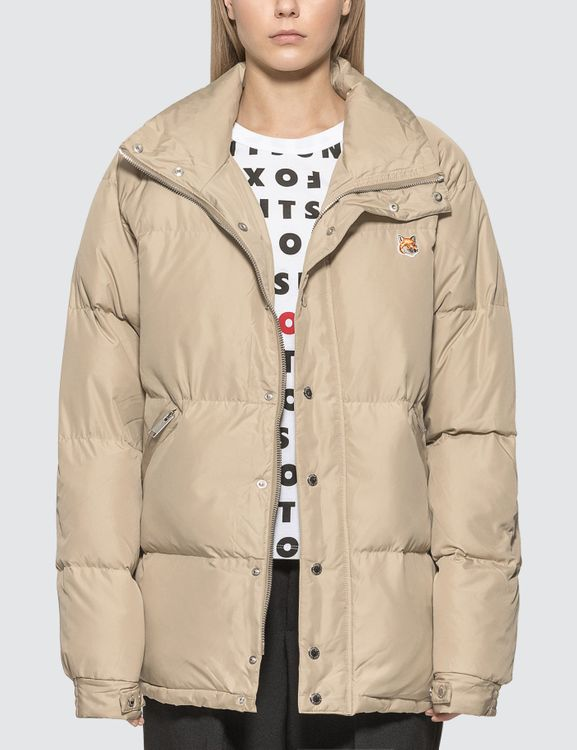 MAISON KITSUNE Fox Head Patch Down Jacket
