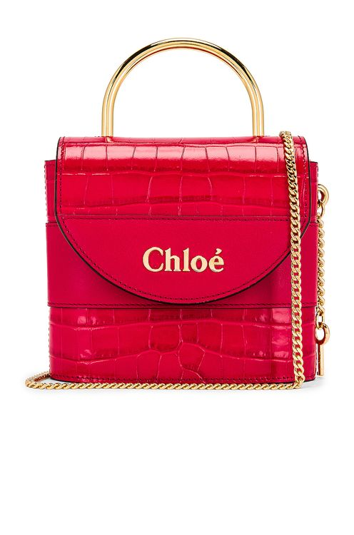 Chloé Small Abylock Embossed Croc Padlock Bag