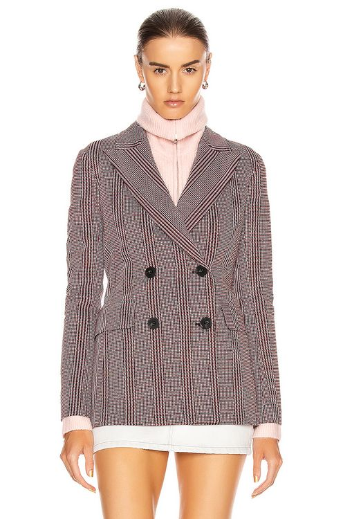 Rosetta Getty Double Breasted Lapel Jacket