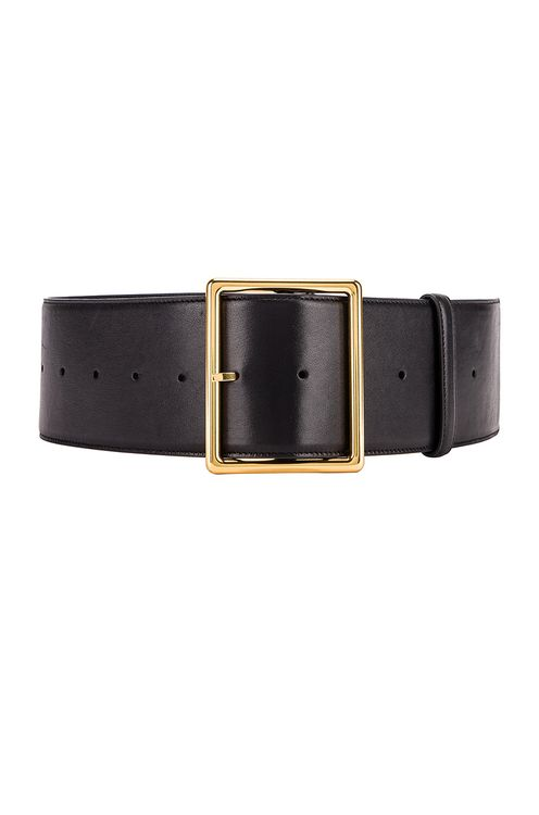 Saint Laurent Wide Leather Belt