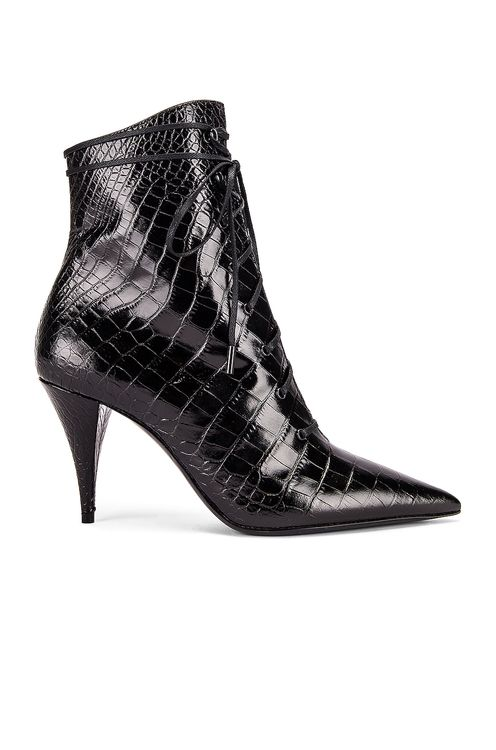 Saint Laurent Kiki Lace Up Booties