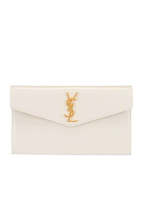Saint Laurent Uptown Monogramme Medium Envelope Pouch