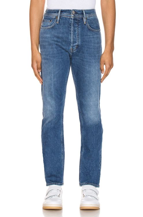 Acne Studios River Mid Blue 5 Pocket Denim Jeans