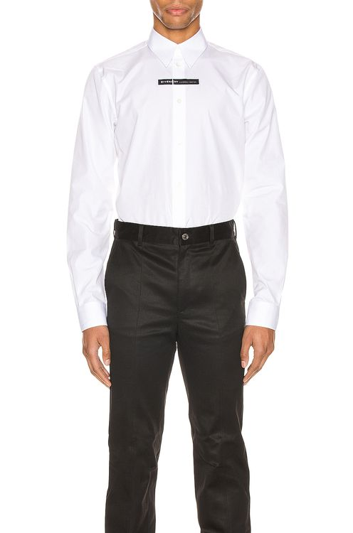 Givenchy Branding Chest Tape Shirt
