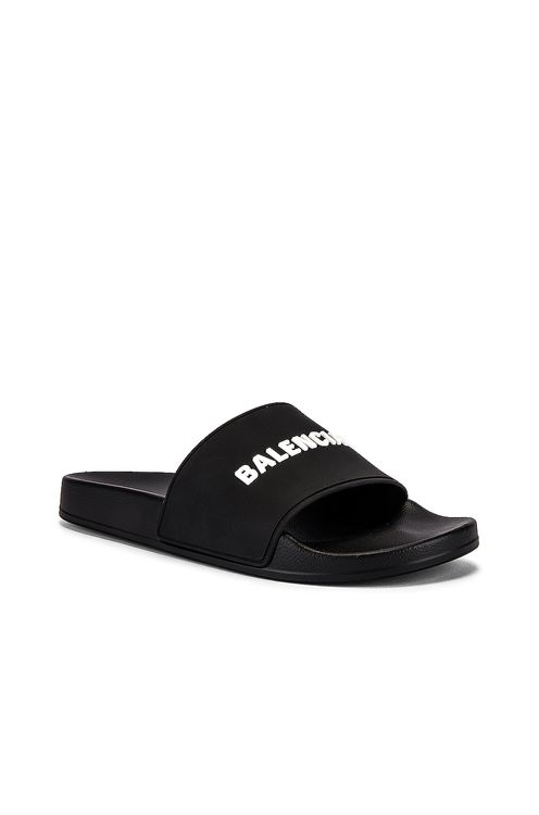 BALENCIAGA Logo Pool Slide
