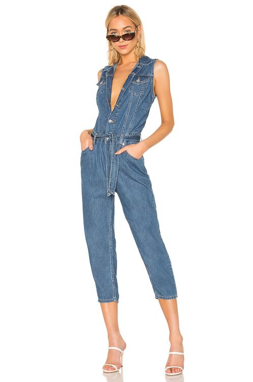 Levi's Cropped Taper Jumpsuit