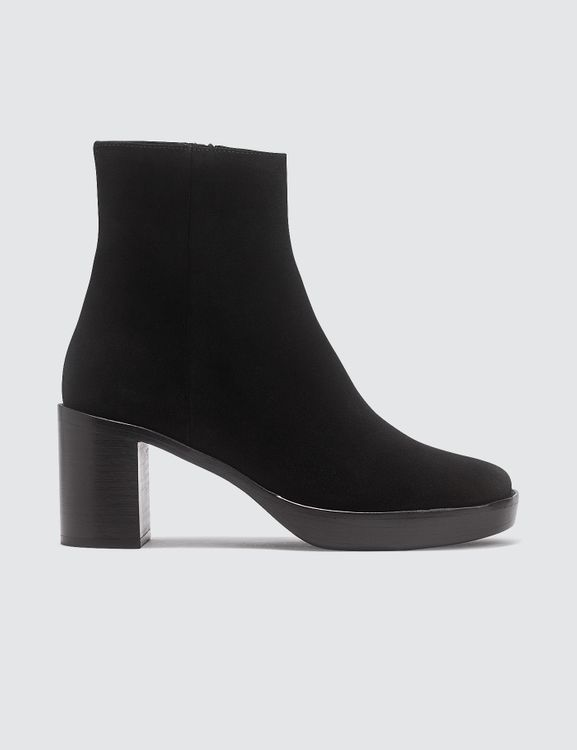 By Far Ellen Black Suede Leather Boots