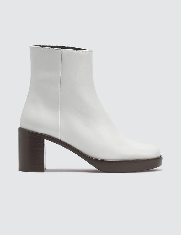 By Far Ellen White Leather Boots