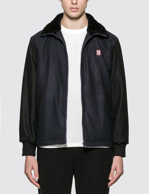 have a good time Zip-up Wool Stadium Jacket