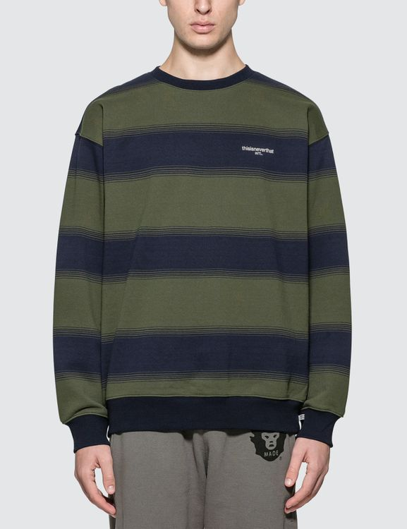 thisisneverthat INTL. Striped Crewneck Sweatshirt
