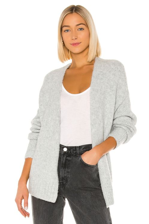 1. STATE Belted Jersey Stitch Cardigan