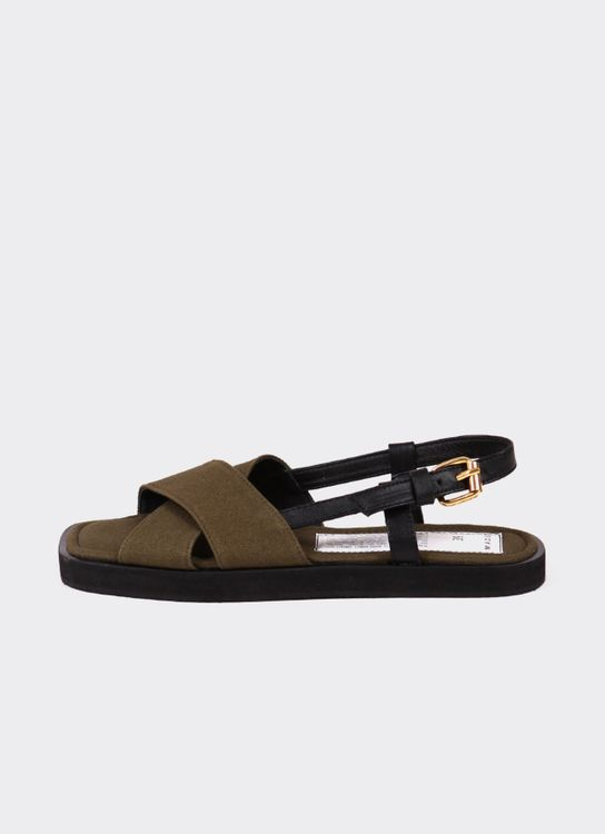Mader Canvas Square Toe  Olive