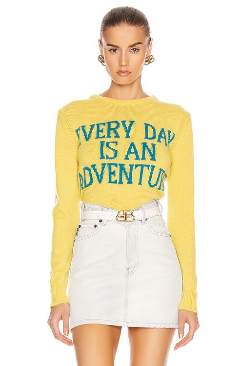 Alberta Ferretti Everyday Is An Adventure Sweater