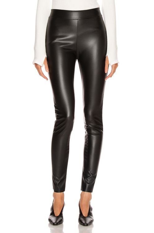 Wolford Estella Faux Leather Back Seam Legging