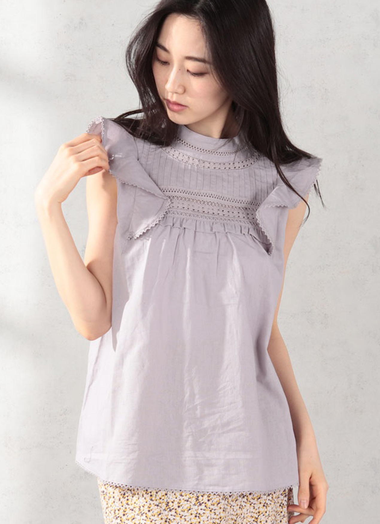 Earth, Music & Ecology Coura Top - Lavender