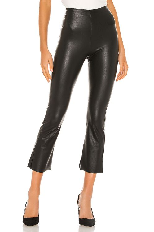 Commando Faux Leather Cropped Flare Pant