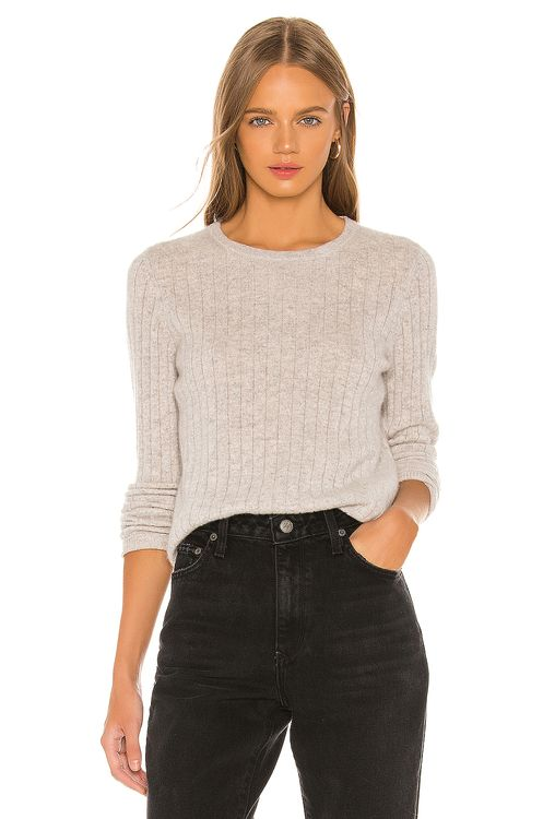 White + Warren Slim Essential Crew Sweater