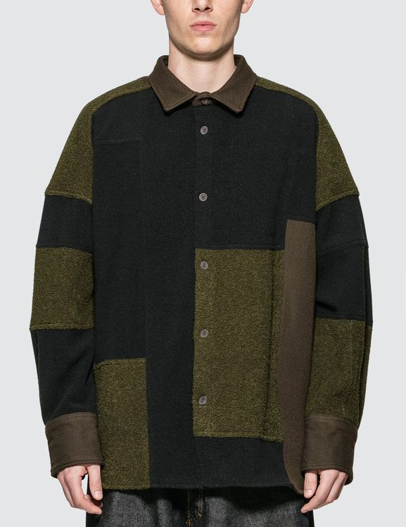AMBUSH Fleece Patchwork Shirt