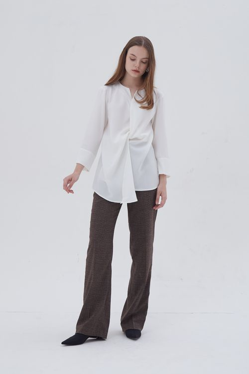 Shopatvelvet Croix Two Way Blouse White