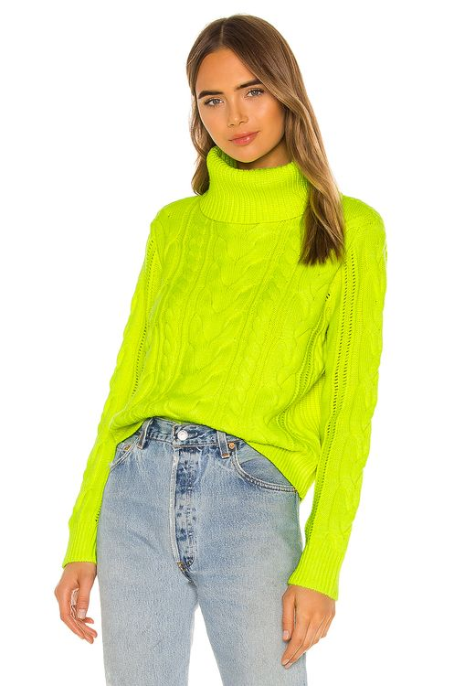 Alice + Olivia Mayme Turtleneck Cable Pullover
