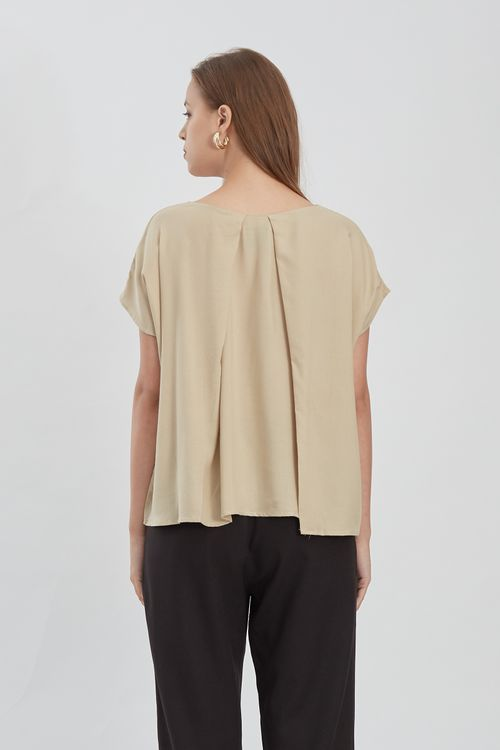 Shopatvelvet Unit Top Beige