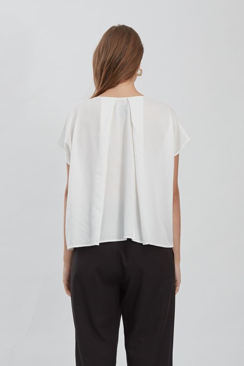 Shopatvelvet Unit Top White