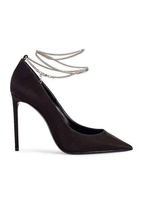 Saint Laurent Zoe Ankle Chain Heels
