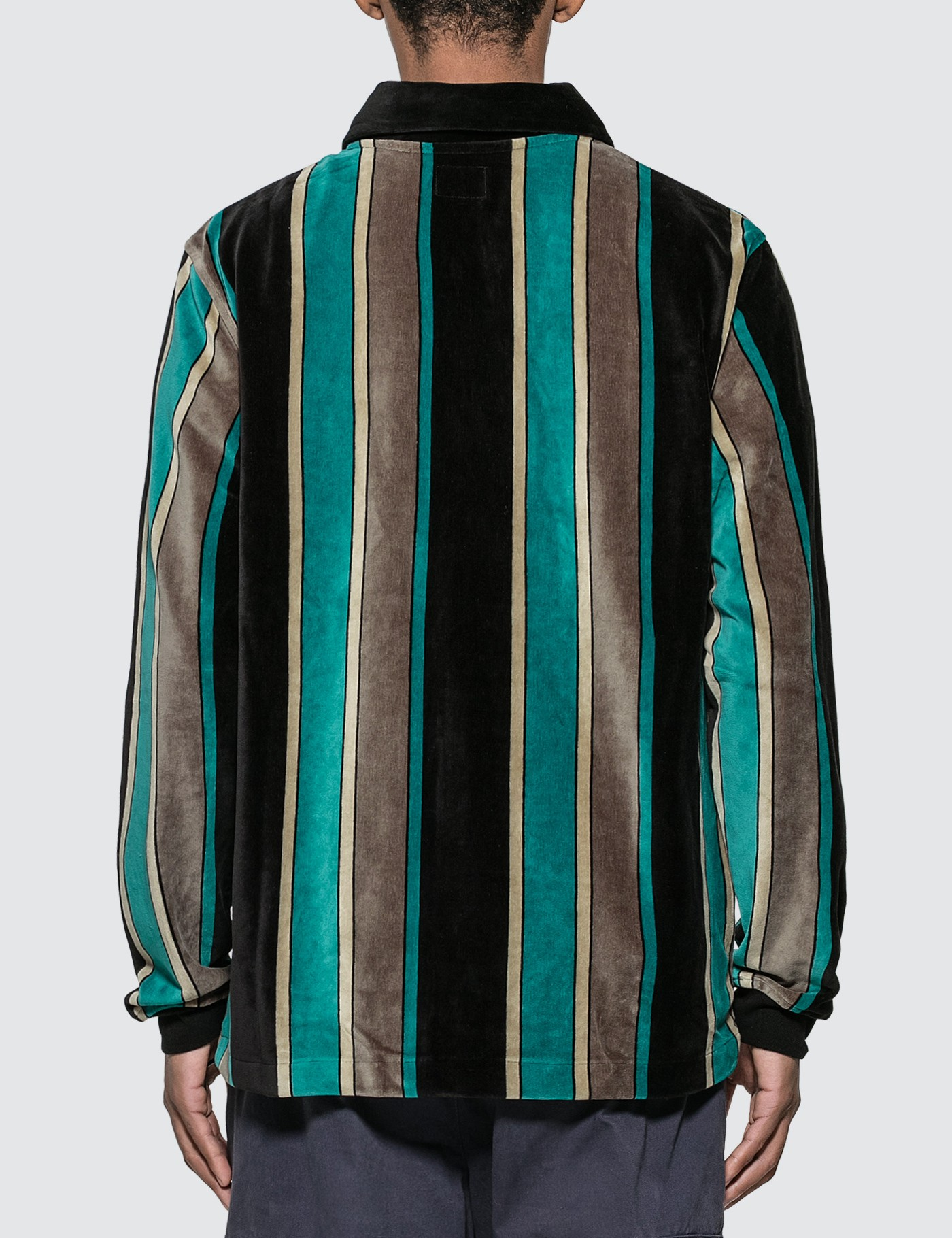 Stussy Roland Stripe Long Sleeve Full Zip