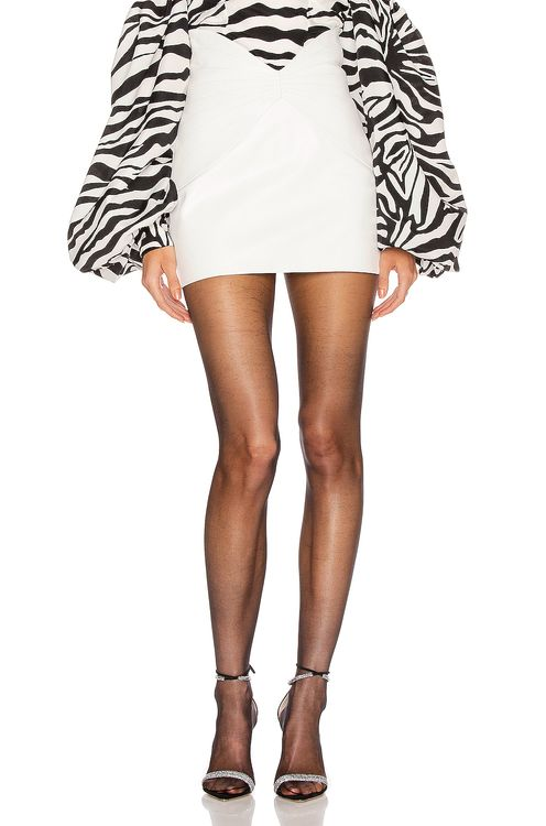 Attico Leather Butterfly Mini Skirt