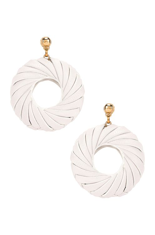 Bottega Veneta Leather Circle Earrings