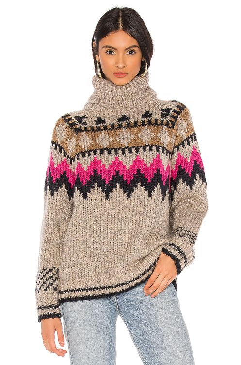 John & Jenn by Line Fair Isle Turtleneck Sweater