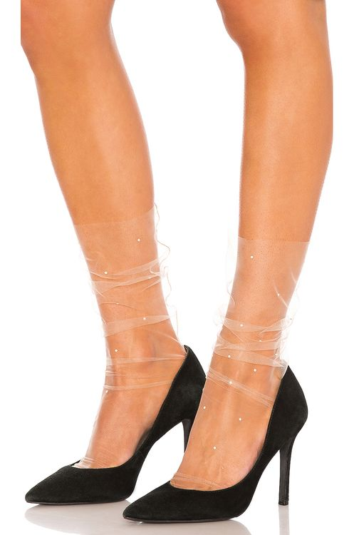 Pan & The Dream Super Fine Pearl Tulle Socks