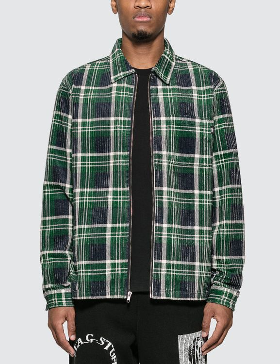 Stussy Big Wale Cord Zip Up Long Sleeve Shirt