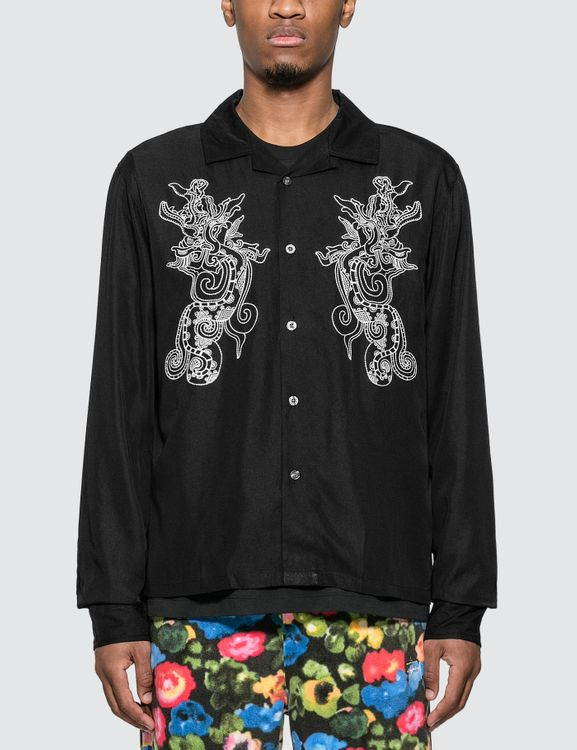 Stussy Emb. Dragon Long Sleeve Shirt