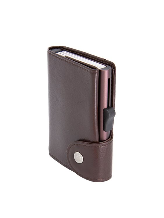 C-Secure C-Secure XL Italian Leather Wallet RFID Mogano Brown