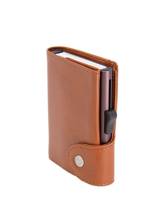 C-Secure C-Secure XL Italian Leather Wallet RFID Chestnut Brown